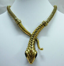 Vintage Style Fashion Art Deco Snake Animal Statement Necklace Party Jewelry