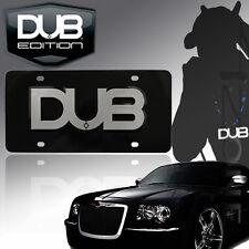 DUB EDITION Aluminum Chrome & Black 3D DUB License Plate