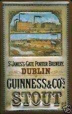 Guinness Brewery Segno Metallo Insegna 3D Rilievo ad Arco Stagno 20 x 30 CM