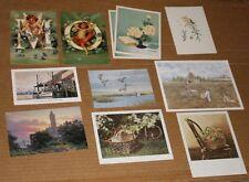11 Mini Prints and Art Postcards Variety Selection Vintage