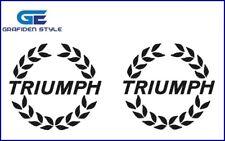 2 stück - TRIUMPH - Motorrad Aufkleber - Moto Sticker - Decal - B 10cm !