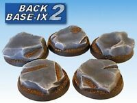 40mm Resin Scenic Bases (5) Round Rock Warhammer