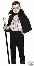 Toddler Boys Vampire Count Dracula Halloween Fancy Dress Costume Toddler 3 years