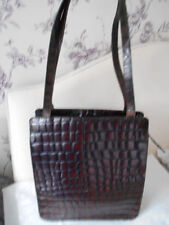 Marks and Spencer Croc Print Leather Outer Handbags