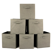 6X Foldable Square Canvas Storage Collapsible Folding Box Fabric Cubes Toys