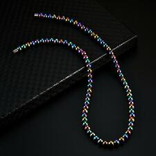 Women Men Care Magnetic Therapy Hematite Beads Necklace Chain Gifts