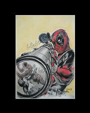 Deadpool Punisher Daredevil drawing from artist art Image picture poster