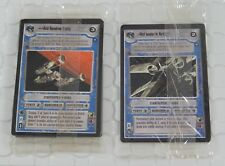 Star Wars CCG Tournament Deck Pack & Red Gold Leader Sealed Pack Lot
