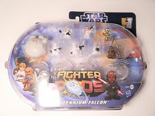Star Wars FIGHTER PODS Millenium Falcon + Lea C3PO + Chewbacca + 4 Storm Trooper