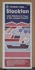 1993 Compass Street Map of Stockton Lodi Monteca & Tracy California