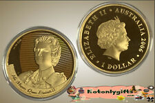 2006  $1 Gold Plate Silver Proof Coin - Figures of Note - HM Queen Elizabeth II