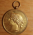 ancienne médaille en bronze société nationale du tir des communes de france