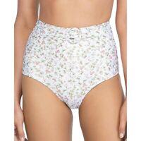 Peony 259926 Women Floral High Waist Bikini Bottom Swimwear la boheme Size 4