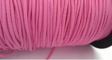 """4 yards bungee elastic cord hot pink soft shock cord 1 /8"""" SHIP FROM USA"""