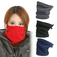 Women Snood Scarf Winter Hat Fleece Neck Warmer Balaclava Men Black Ski Mask 2Y