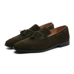 British Style Men Suede Tassel Accessories Moccasin Low-Heel Casual Shoes Loafer