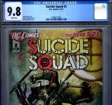 PRIMO:  SUICIDE SQUAD #2 NM/MT 9.8 CGC HIGHEST Harley Quinn DC movie New 52 lot