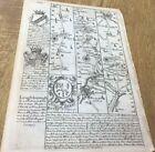 LEICESTER LOUGHBOROUGH DERBY NORTHAMPTON OWEN BOWEN MAP C1720 BRITANNIA DEPICTA