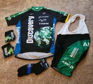 DISCOVERY CHANNEL AMD cycling kit Excellent condition. Jersey/Bibs/Gloves/Socks