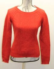 Hugo Boss Red Cable Women Cable Knit Sweater Made In Italy Small Wool Cotton