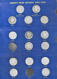 Liberty Head Nickel Collection with 1885, 1886, 1912-s