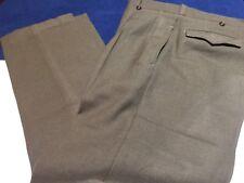 Vintage U.T.A.H. Lavaur Mitin Sz 35x31 Brown Pleated Wool Military Pants
