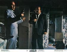 Lady in Cement 11x14 original lobby card Dan Blocker Frank Sinatra pointing gun