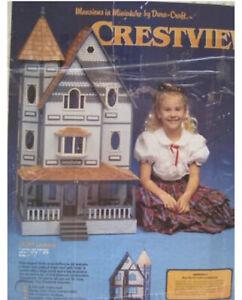 "New Rare Miniature Wood Doll House Dura-Craft Kit ""The Crestview"" 22X43x18"