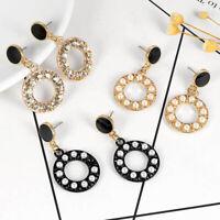 Geometric Pearl Statement Women Girl Brincos Dangle Earrings Fashion Jewelry