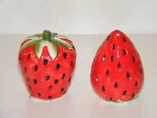 STRAWBERRY SALT & PEPPER SHAKERS COLLECTABLE