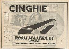 Z0014 Cinghie Rossi Masera - Milano - Pubblicità del 1926 - Advertising