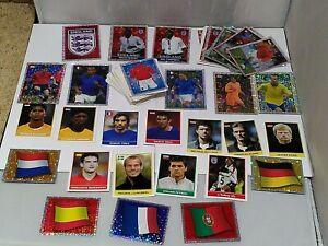 Merlin England Euro 2004 Football Sticker Bundle x137 Stickers-No Duplicates