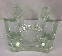 "Chantal Trivet Warming Stand Vintage 5 1/2"" Clear Glass Teapot Warmer"