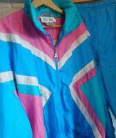 Vintage Casual Isle Tracksuit Set Size XL Jacket Top & Pants Bottom Shell Retro