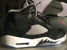 Air Jordan Retro 5 shoes, Black/ Cool Grey-White, Size 8, Brand New