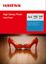 100 Sheets A4 230Gsm 240Gsm High Glossy Photo Paper Inkjet Paper Printer Hartwii