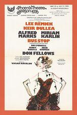 "Lee Remick ""BUS STOP"" Keir Dullea / Alfred Marks 1976 London Revival Flyer"