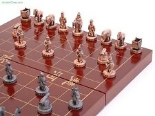 "XIANGQI (CHINESE CHESS) METAL FIGURATIVE 3-D STATUE SET 10"" BOARD K=1 3/8"" (241)"