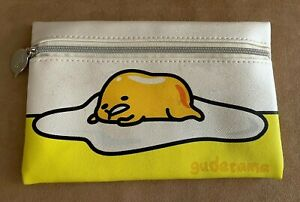 Ipsy Gudetama Sanrio Lazy Egg Meh Cosmetic Glam Bag Zippered Pouch makeup