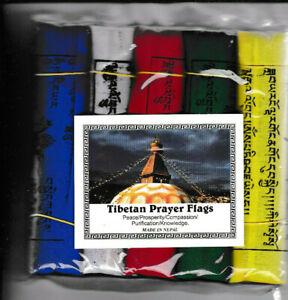 5 tibetische Gebetsfahnen - Tibetan Prayer Flags