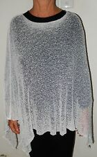 1C554  LADIES LIGHT WEIGHT KNITTED PONCHO THROW OVER PLUS SIZE 16 18 20 22 24 26