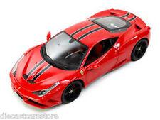 FERRARI 458 RED SPECIALE SIGNATURE SERIES 1:18 DIECAST MODEL CAR BBURAGO 16903