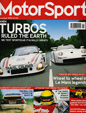 Motor Sport Nov 2004 - Porsche 935 vs 911 GT1, Williams FW07, Lotus 23B vs Westf