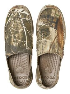 New Men's Crocs Santa Cruz Realtree Edge Slip-on Casual Shoes Loafers.