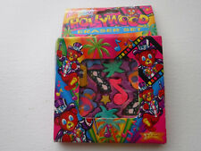 Vtg Lisa Frank Designer Eraser Set P266 HOLLYWOOD - NEW-Palm trees, star, bears