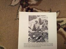 M1b ephemera ww2 reprint picture norway police forces sweden mortar drill 1944