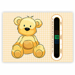 Baby Room Thermometer A6 Beige Teddy Bear