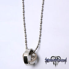 Kingdom Hearts 2 Crown Rotating Ring Pendant Key Blade Necklace Chain Gift