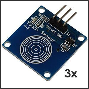 3x Digitaler Kapazitiver Touch Sensor TTP223B für Arduino Raspberry Pi