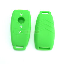 Fit Mercedes Benz E S 3 Buttons Class Remote Key Silicone Cover Skin Case Green